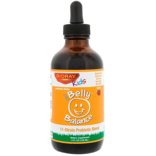 Bioray, Kids, NDF Belly Balance, 11-Strain Probiotic Blend, Berry Flavor, 4 fl oz (120ml) Review