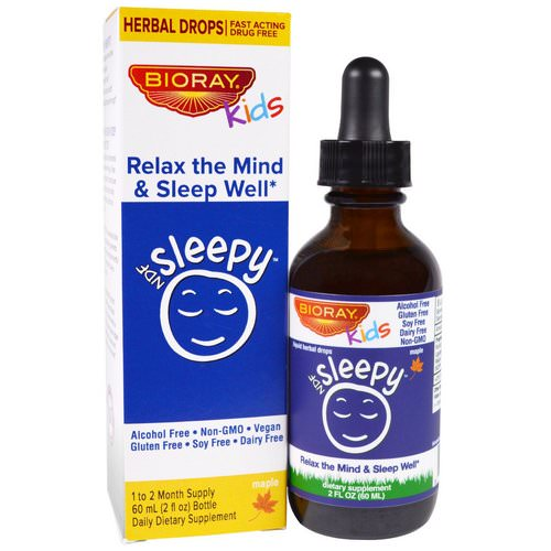 Bioray, NDF Sleep, Relax The Mind & Sleep Well, Kids, Maple Flavor, 2 fl oz (60 ml) Review