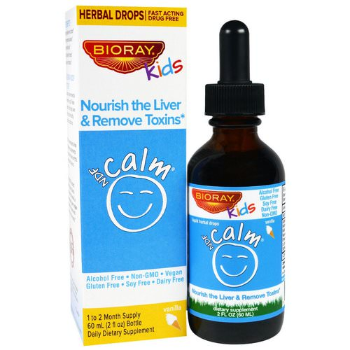 Bioray, NDF Calm, Nourish the Liver & Remove Toxins, Kids, Vanilla Flavor, 2 fl oz (60 ml) Review