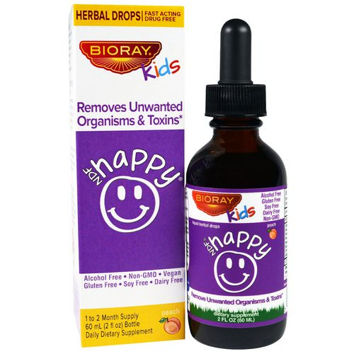 Bioray, NDF Happy, Removes Unwanted Organisms & Toxins, Kids, Peach Flavor, 2 fl oz. (60 ml) Review