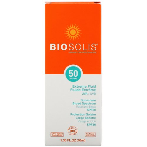 Biosolis, Extreme Fluid, Sunscreen, SPF 50, 1.35 fl. oz (40 ml) Review