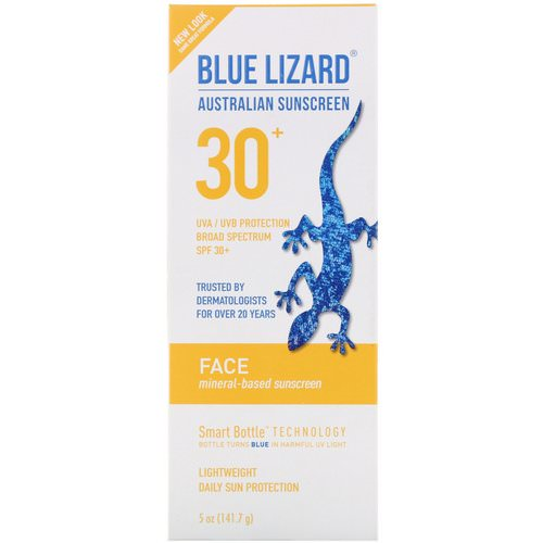 Blue Lizard Australian Sunscreen, Face, Mineral-Based Sunscreen, SPF 30+, 5 oz (141.7 g) Review