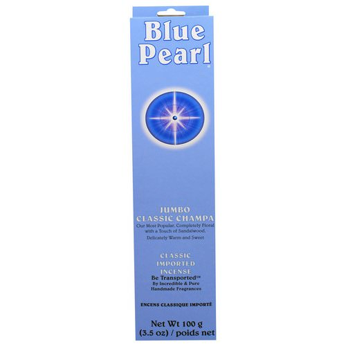 Blue Pearl, Classic Imported Incense, Jumbo Classic Champa, 3.5 oz (100 g) Review