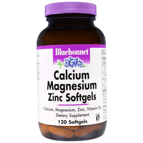 Bluebonnet Nutrition, Calcium Magnesium Zinc, 120 Softgels Review