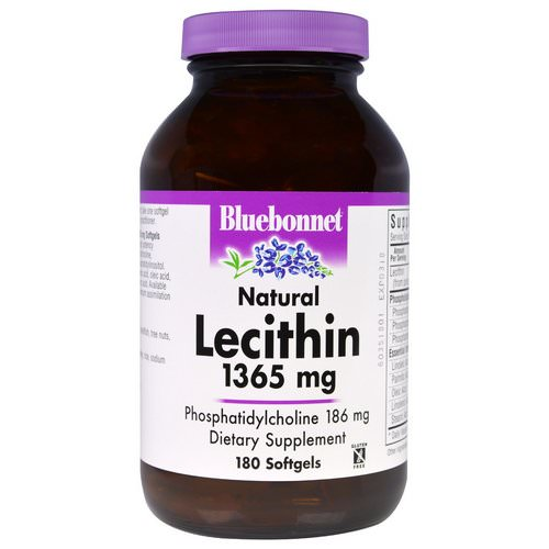 Bluebonnet Nutrition, Natural Lecithin, 1365 mg, 180 Softgels Review