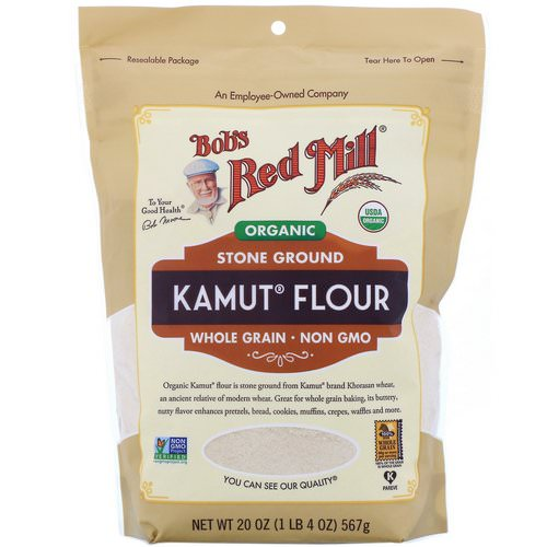 Bob's Red Mill, Organic Kamut Flour, Whole Grain, 20 oz (567 g) Review