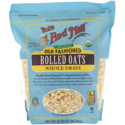 Bob's Red Mill, Organic, Old Fashioned Rolled Oats, Whole Grain, 32 oz (907 g) Review