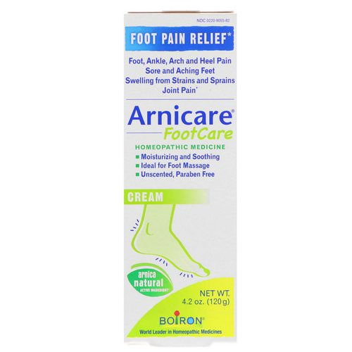 Boiron, Arnicare Foot Care Cream, Unscented, 4.2 oz (120 g) Review