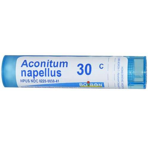 Boiron, Single Remedies, Aconitum Napellus, 30C, Approx 80 Pellets Review