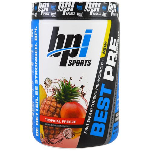 BPI Sports, Best Pre Workout, Beta-Hydroxybutyrate Ketone & Energy Formula, Tropical Freeze, 11.11 oz (315 g) Review
