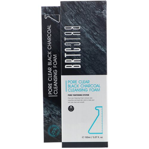 BRTC, Pore Clear Black Charcoal Cleansing Foam, 5.07 fl oz (150 ml) Review