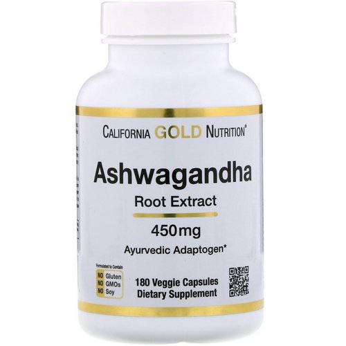California Gold Nutrition, Ashwagandha, 450 mg, 180 Veggie Capsules Review