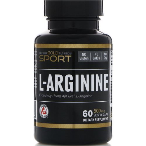 California Gold Nutrition, L-Arginine, AjiPure, 500 mg, 60 Veggie Caps Review