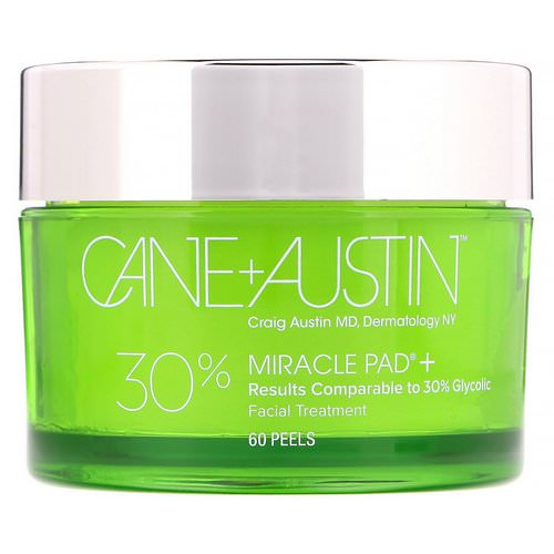 Cane + Austin, Miracle Pad, 30% Glycolic Acid, 60 Peels Review