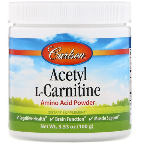 Carlson Labs, Acetyl L-Carnitine, Amino Acid Powder, 3.53 oz (100 g) Review