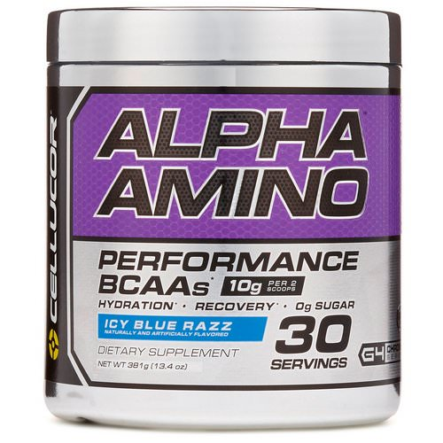 Cellucor, Alpha Amino, Performance BCAAs, Icy Blue Razz, 13.4 oz (381 g) Review