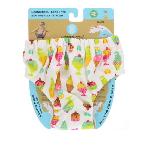 Charlie Banana, Reusable Swim Diaper, Gelato, X-Large, 1 Diaper Review