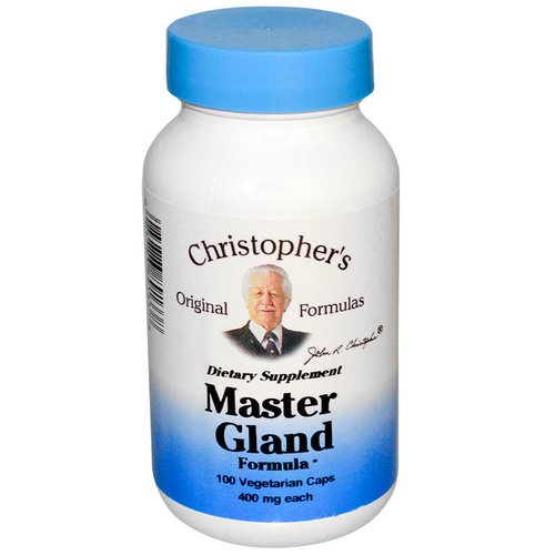 Christopher's Original Formulas, Master Gland Formula, 400 mg, 100 Veggie Caps Review