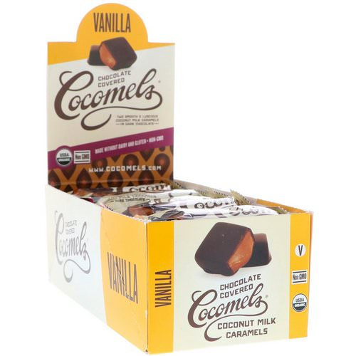 Cocomels, Organic, Chocolate Covered Coconut Milk Caramels, Vanilla, 15 Units, 1 oz (28 g) Each Review