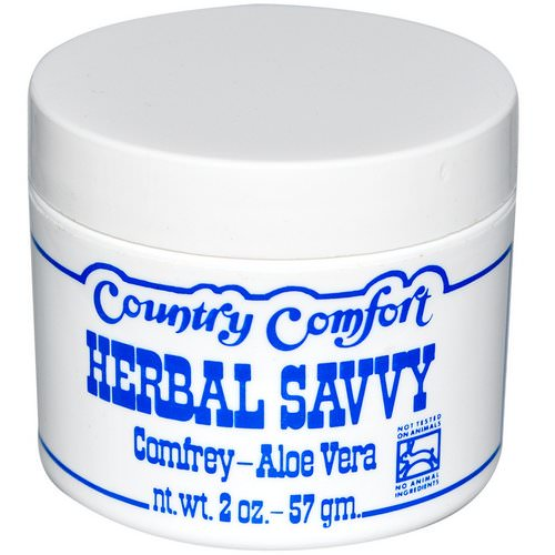 Country Comfort, Herbal Savvy, Comfrey- Aloe Vera, 2 oz (57 g) Review