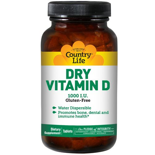 Country Life, Dry Vitamin D, 1000 IU, 100 Tablets Review