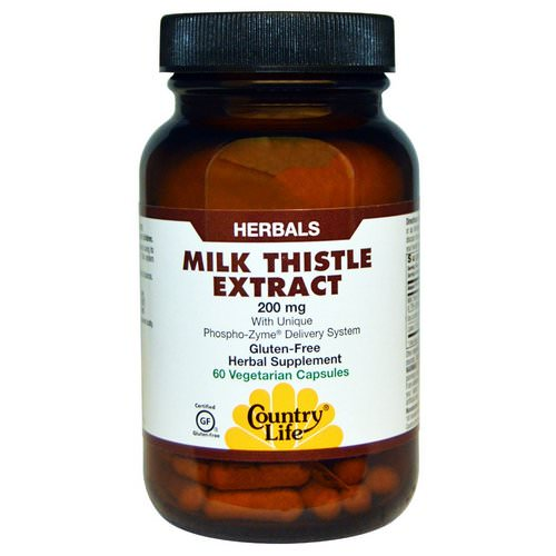 Country Life, Milk Thistle Extract, 200 mg, 60 Veggie Caps Review