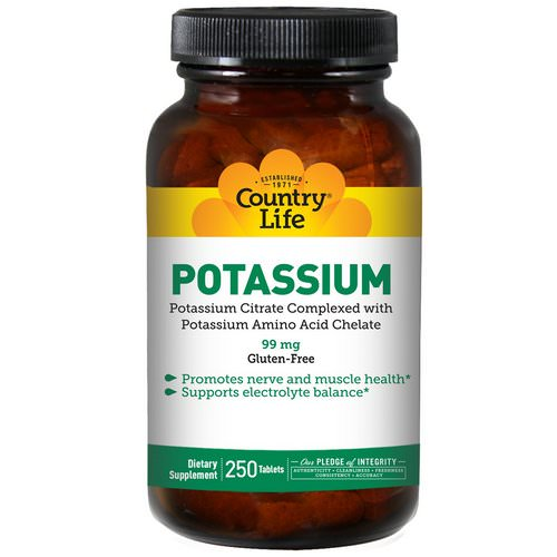 Country Life, Potassium, 99 mg, 250 Tablets Review