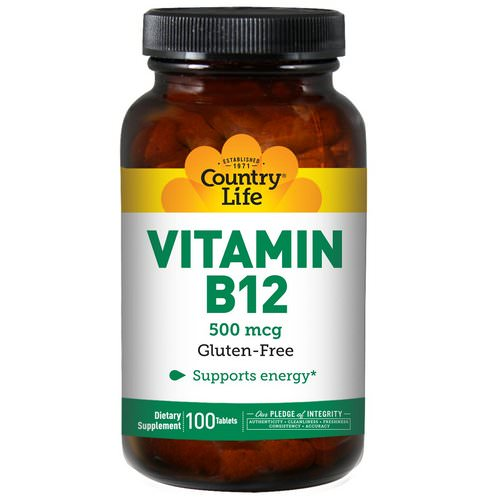 Country Life, Vitamin B12, 500 mcg, 100 Tablets Review