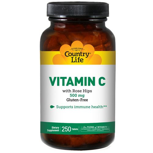 Country Life, Vitamin C, 500 mg, 250 Tablets Review