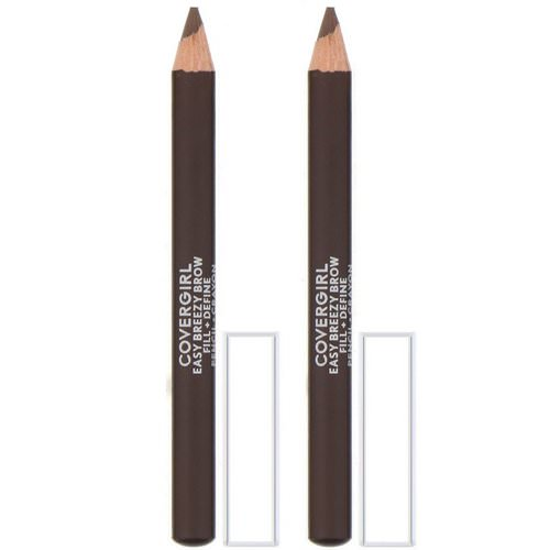 Covergirl, Easy Breezy, Brow Fill + Define Pencil, 505 Rich Brown, 0.06 oz (1.7 g) Review