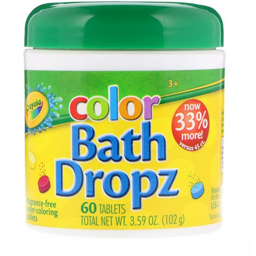 Crayola, Color, Bath Dropz, 60 Tablets Review
