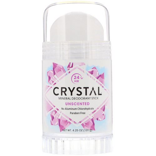 Crystal Body Deodorant, Mineral Deodorant Stick, Unscented, 4.25 oz (120 g) Review