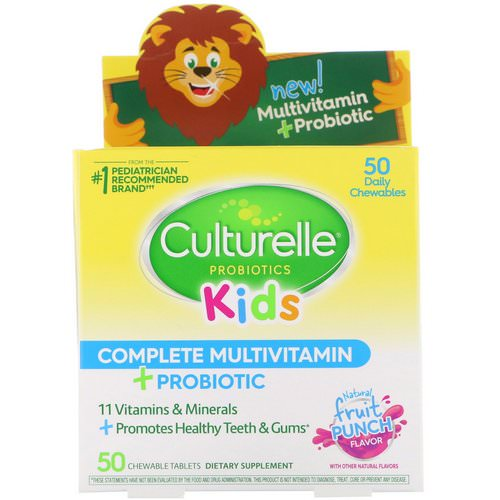 Culturelle, Kids Complete Multivitamin + Probiotic, Fruit Punch, 50 Chewable Tablets Review