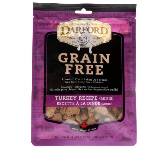 Darford, Grain Free, Premium Oven-Baked Dog Treats, Turkey Recipe, Minis, 12 oz (340 g) Review