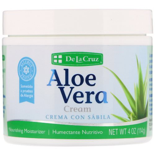 De La Cruz, Aloe Vera Cream, 4 oz (114 g) Review