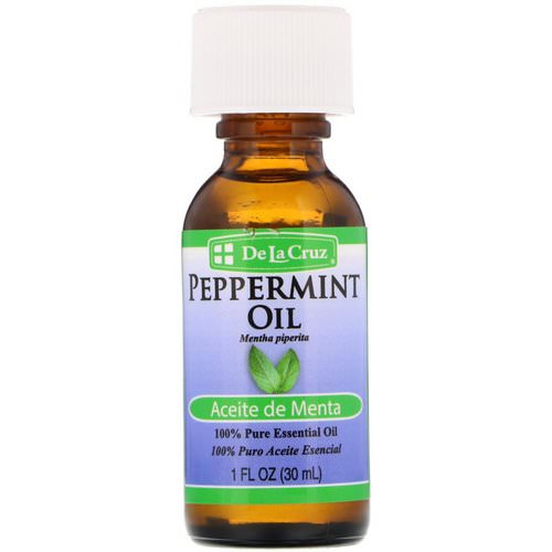 De La Cruz, Peppermint Oil, 100% Pure Essential Oil, 1 fl oz (30 ml) Review
