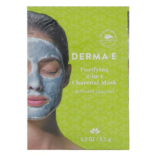 Derma E, Purifying 2-in-1 Charcoal Mask, 0.3 oz (8.5 g) Review