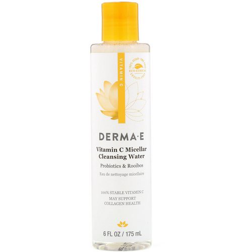 Derma E, Vitamin C Micellar Cleansing Water, Probiotics & Rooibos, 6 fl oz (175 ml) Review