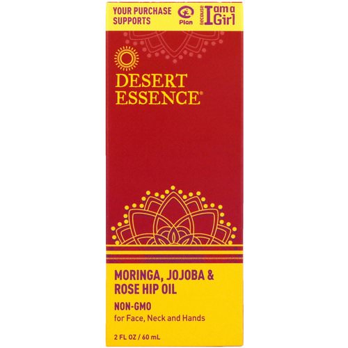Desert Essence, Moringa, Jojoba & Rose Hip Oil, 2 fl oz (60 ml) Review