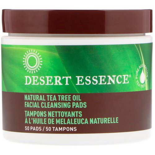 Desert Essence, Natural Tea Tree Oil Facial Cleansing Pads, 50 Pads Review