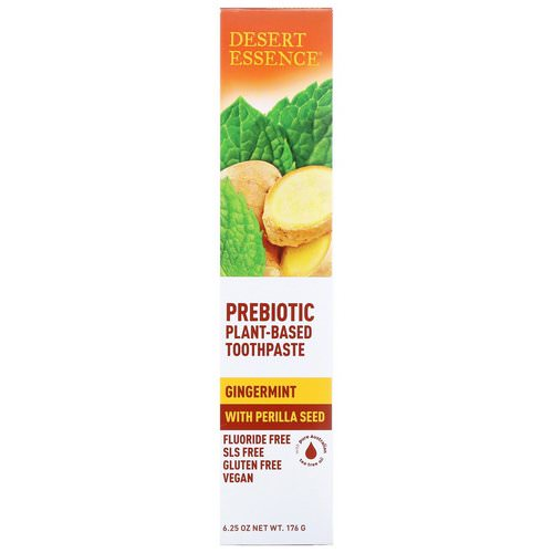 Desert Essence, Prebiotic, Plant-Based Toothpaste, Gingermint, 6.25 oz (176 g) Review