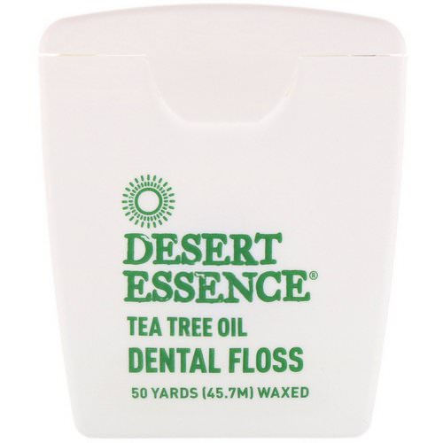 Desert Essence, Tea Tree Oil Dental Floss, Waxed, 50 Yds (45.7 m) Review
