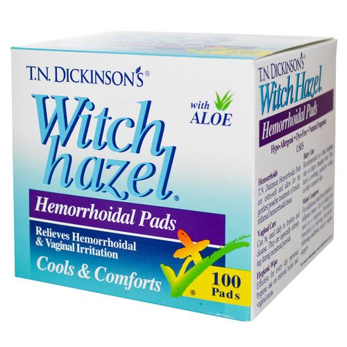 Dickinson Brands, T.N. Dickinson's Witch Hazel Hemorrhoidal Pads, with Aloe, 100 Pads Review