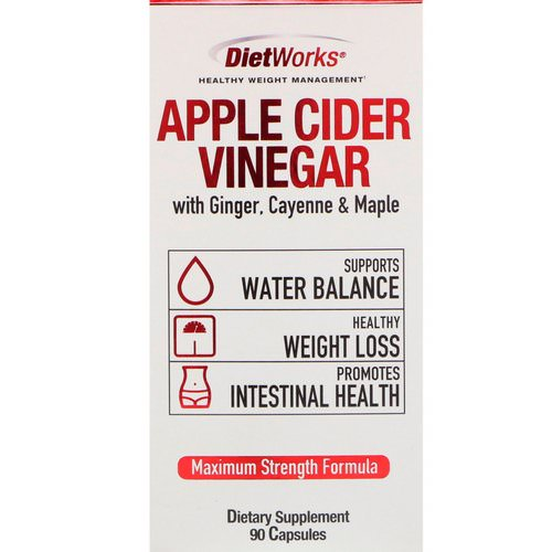 DietWorks, Apple Cider Vinegar, 90 Capsules Review
