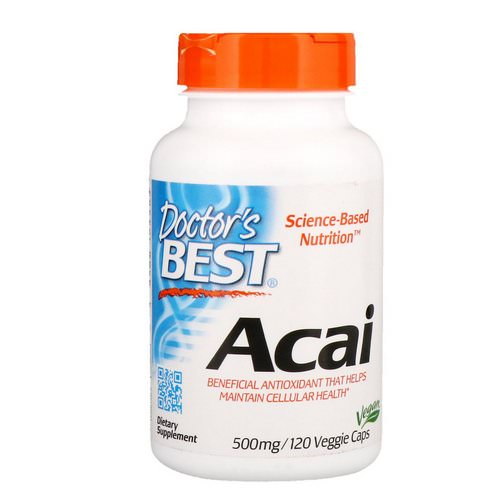 Doctor's Best, Acai, 500 mg, 120 Veggie Caps Review