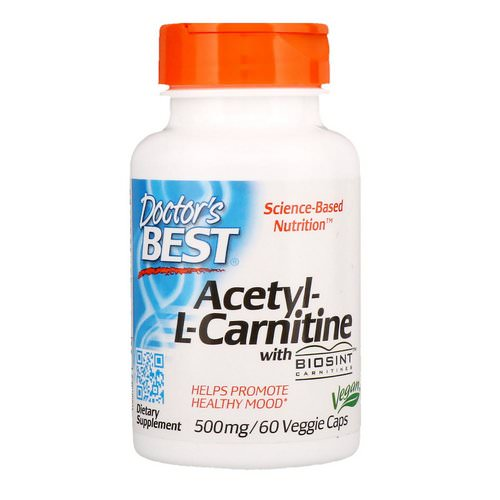 Doctor's Best, Acetyl-L-Carnitine with Biosint Carnitines, 500 mg, 60 Veggie Caps Review