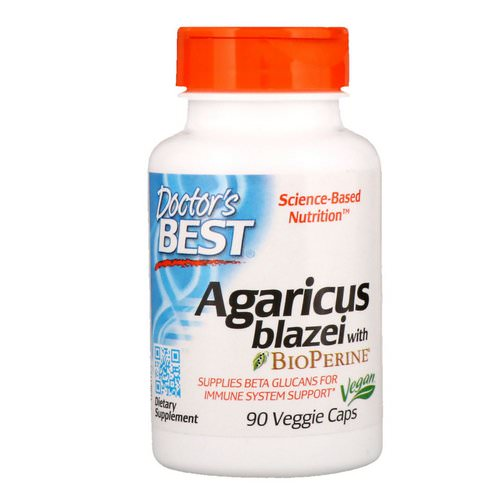 Doctor's Best, Agaricus Blazei With Bioperine, 90 Veggie Caps Review