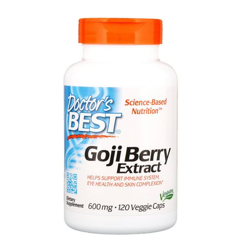 Doctor's Best, Goji Berry Extract, 600 mg, 120 Veggie Caps Review
