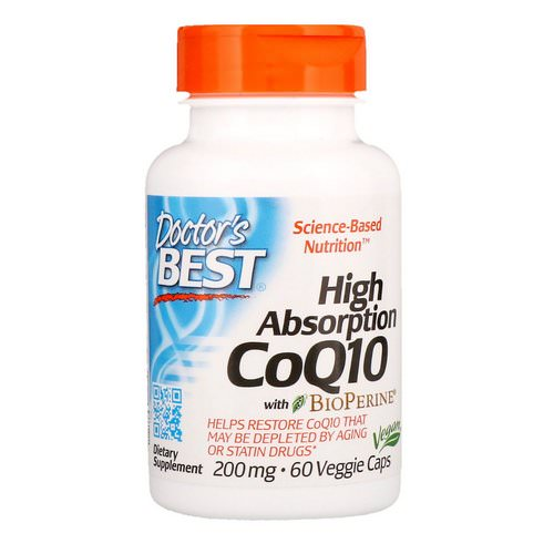 Doctor's Best, High Absorption CoQ10 with BioPerine, 200 mg, 60 Veggie Caps Review