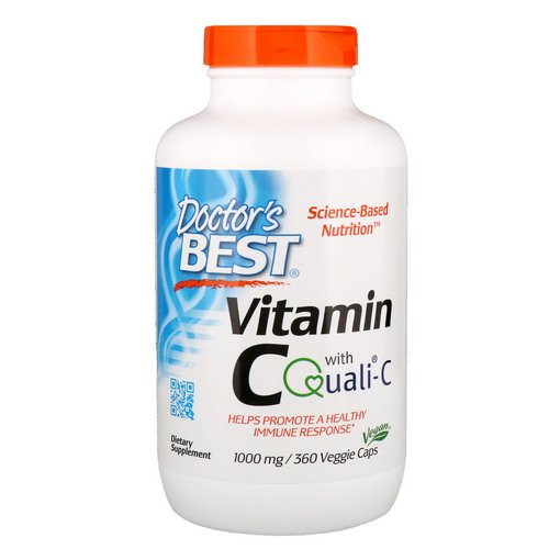 Doctor's Best, Vitamin C with Quali-C, 1,000 mg, 360 Veggie Caps Review